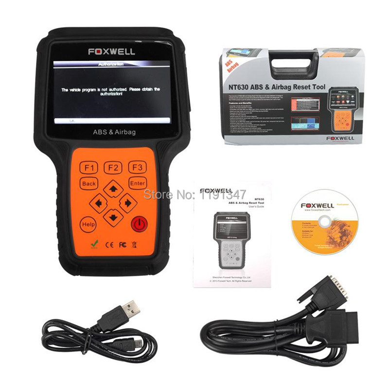 Original Foxwell NT630 AutoMaster Pro ABS Airbag Reset Tool Air Bag Crash Data Reset Diagnostic Scanner DHL Free Shipping(China (Mainland))