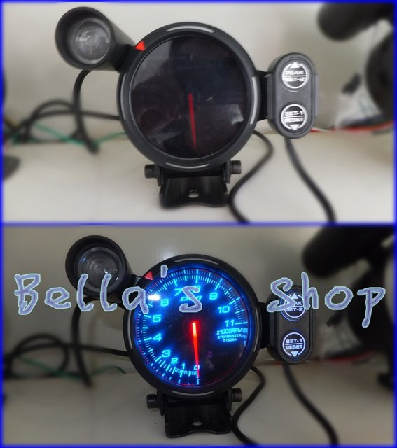 DEF ll  ORIGINAL COLOR BOX 3.75 INCH  RPM SPEEDOMETER TACHOMETER REV COUNTER  AUTO RACING GAUGE /METER