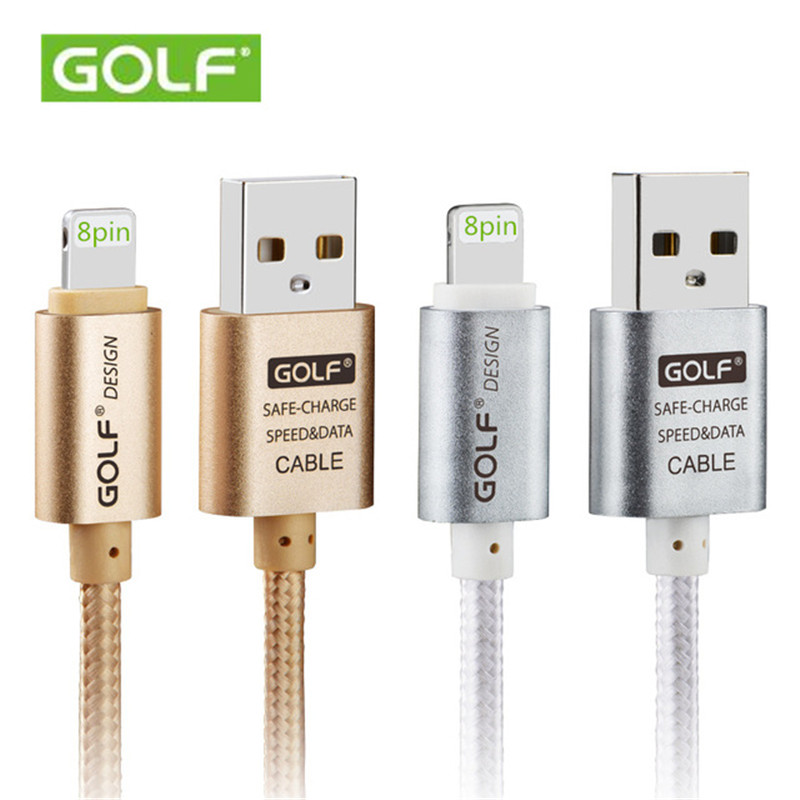 2016 Hot Sale for IPhone Charger USB Cable for IPhone 5s 6 Plus 6s IPad 8pin Data Charging Line 1M Metal Nylon Material(China (Mainland))