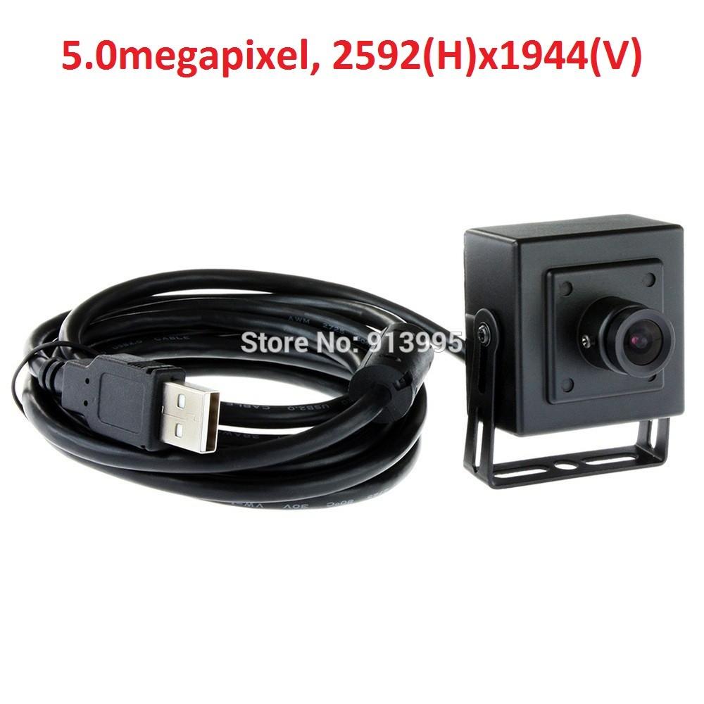 ELP 2016 6mm lens best quality small 38*38mm Aptina mi5100 CMOS sensor 5MP CCTV mini Android medical endoscope camera