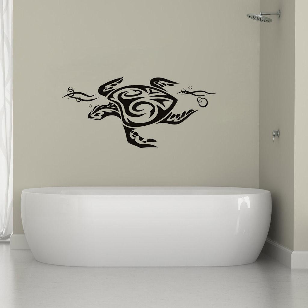 Tribal Sea Tortoise Wall Sticker Home Decor Animal Wall Decal Vinyl Removable free shipping(China (Mainland))