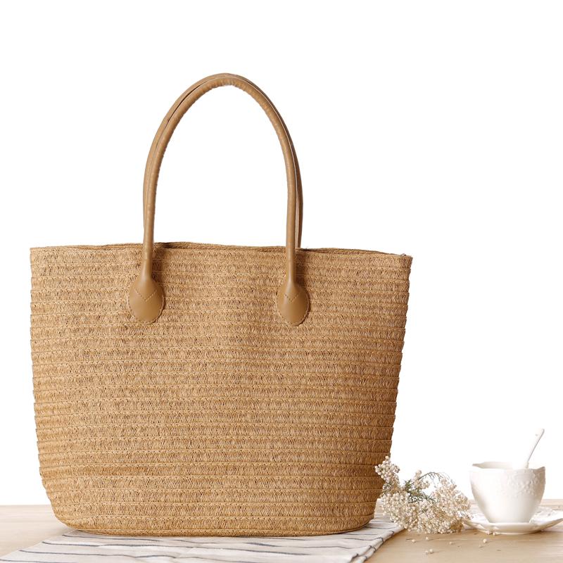 New Hot Sale Straw Bags Large Capacity Designer Handbags Big Weave Hand Bag Women Outdoor Shopping Tote Travel Organizer(China (Mainland))