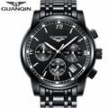 GUANQIN Luxury Brand Men s Quartz Watch Business Watch Men s Watches Stainless Steel Simulation Display