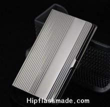 DHL Free shipping of stainless steel business Mirror card holder,credit card holder,(China (Mainland))