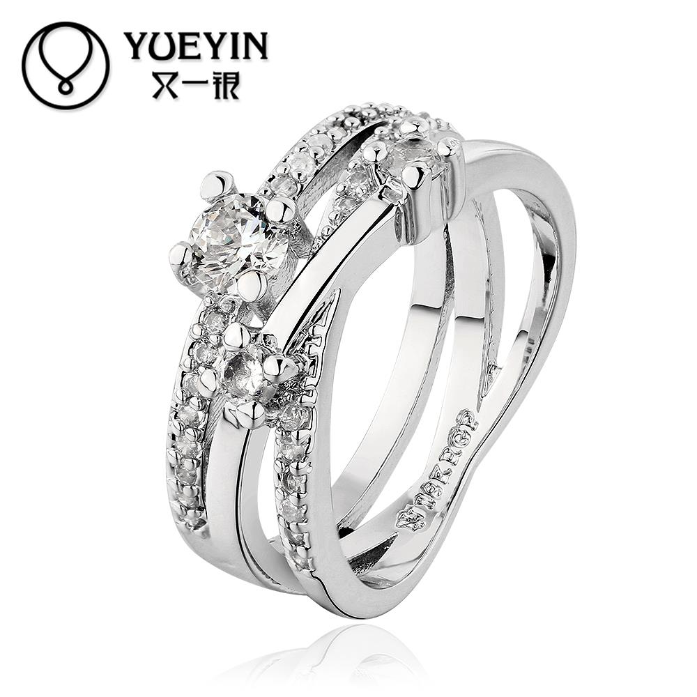 R650 Wholesale Cheap Price High Quality New Fashion Jewelry 18K Gold Plated Women Ring 5 piece/lot(China (Mainland))