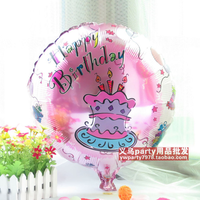 free shipping 45cm aluminum foil balloon cartoon birthday decoration balloon
