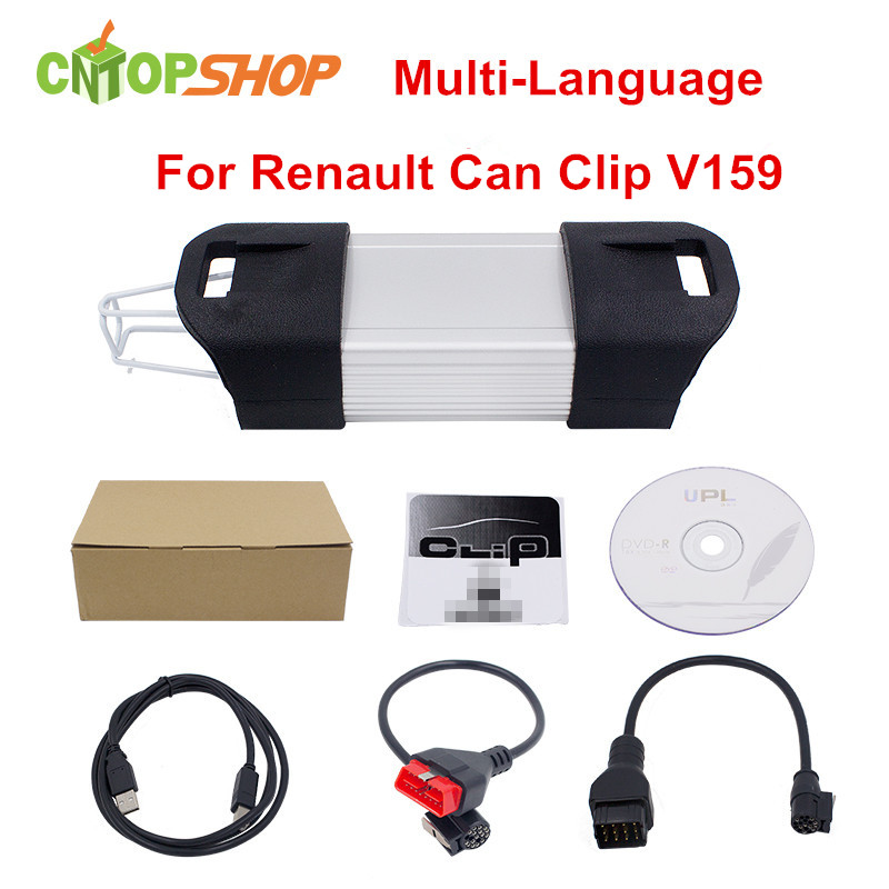 Best Sell For Renault Can Clip V159 OBD2 Diagnostic Tool Newest Version V159 For Renault Can Clip OBD2 Interface Multi-language(China (Mainland))