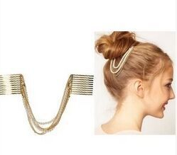 New Fashion indian hair chain white accessories Daisy Flowers for women hair fork Romantic forks for Hair Comb head chain 2001#(China (Mainland))