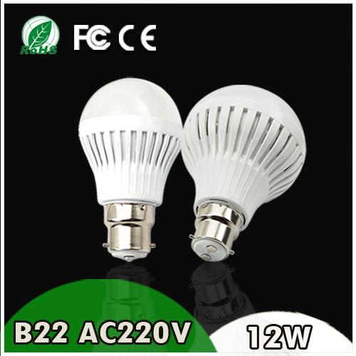 Super Deal 220V B22 LED Lamp LED Bulb 3W 5W 7W 9W 12W 15W Warm Cold White LED Light Bulb LED Spotlight CE FCC ROHS Certified(China (Mainland))