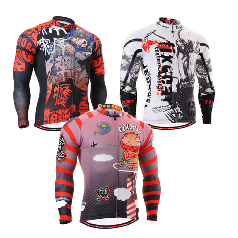 Zipper Tight Skin Compression Shirt Mens Long Sleeves Full 3D Prints Sport Jerseys Running Training Male Tops Wear - LANWIND Store store