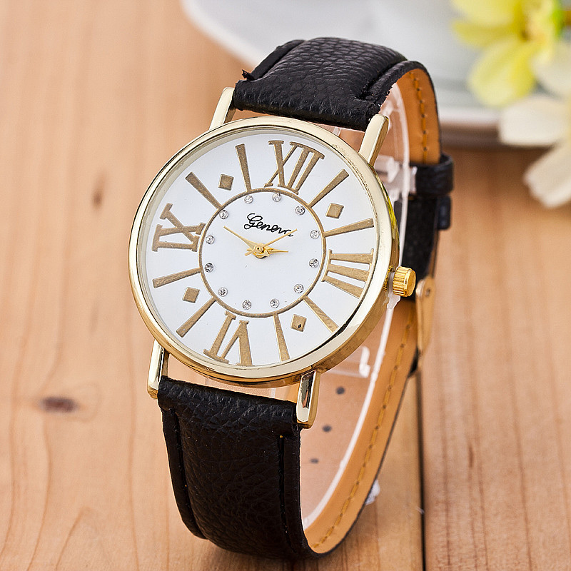 Women Genenva Watches Leather Strap Quartz Watch Ladies Casual Wristwatches Hot Reloj Mujer Relogio Feminino BWSB1166 - Q-Star Fashion Store (min order 1pc store)
