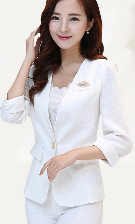Blazer Maternity Dress in the spring and autumn 2017 cultivate one's morality show thin cotton and linen big yards
