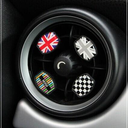 mini cooper car perfume accessori auto styling interior faint fragrance union jack checker style<br><br>Aliexpress