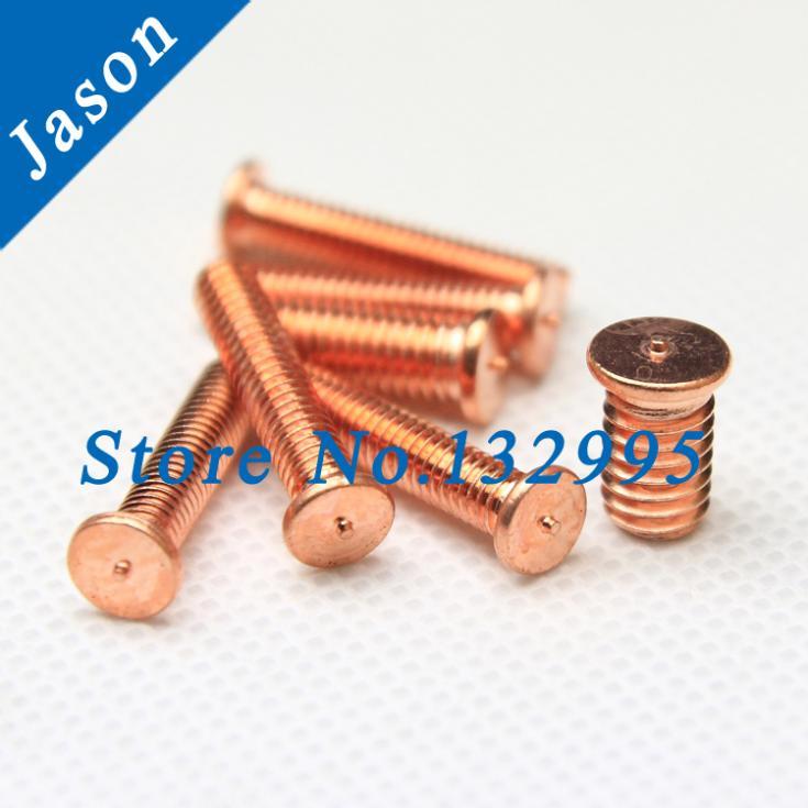 M5*10  Carbon steel copper plated welding screws ISO13918 DIN32501 spot welding studs Carbon steel welding screw M5*L<br><br>Aliexpress