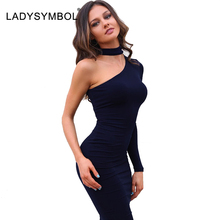 Buy LADYSYMBOL Autumn Elegant Halter Black Bodycon Dress Women Long Sleeve Shoulder Sexy Club Mini Dress Evening Party Vestidos for $12.99 in AliExpress store