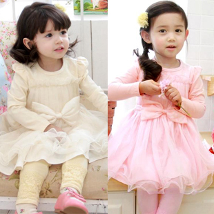 (Free Shipping)2013 Child Baby Little Girl Dress 100% Cotton Princess Dress One-piece Promotion