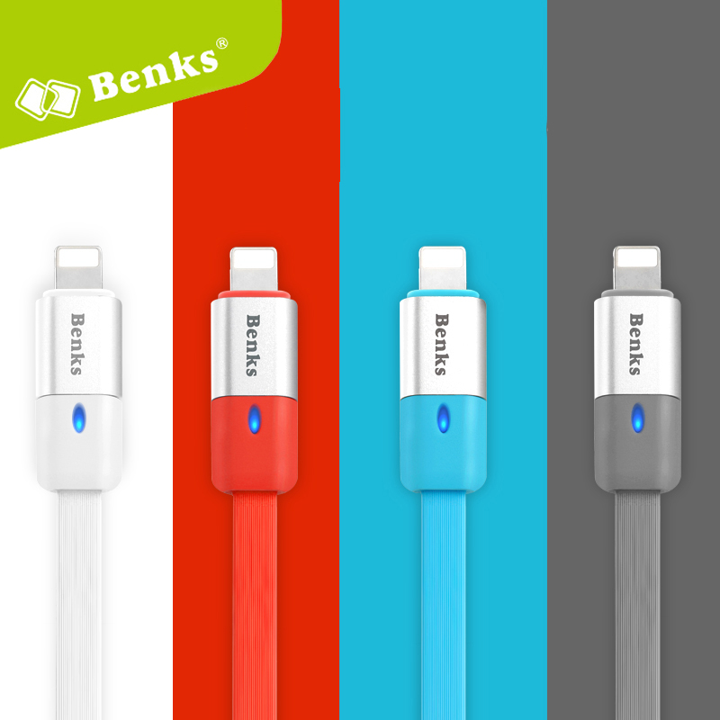 Benks 4 Colors for Micro USB Fast Charging Adapter 2.1A 1m Data charger Mobile Phone Cable (2 PCS Optional )(China (Mainland))