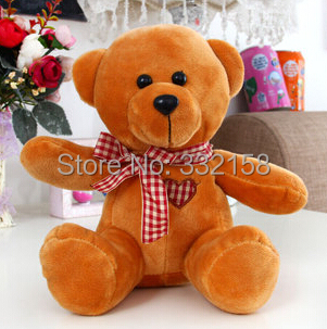 free shipping anime Small colored teddy bear plush toy dolls little color toys children gift(China (Mainland))