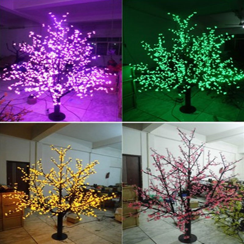 1536LEDS 200cm outdoor led cherry blossom tree light for christmas led christmas tree lights decoration(China (Mainland))