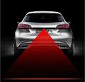 CAR Anti Fog Anti Collision Laser Warning Light Laser LED Car Fog Light Auto Laser Light