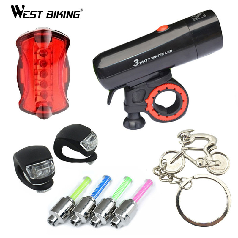 Cycling Light Sets Front Tail Wheel Tire Flash Lamp Bicycle Seatpost Lamp Mountain Bike Laser Lights Night Riding Warning Lights(China (Mainland))