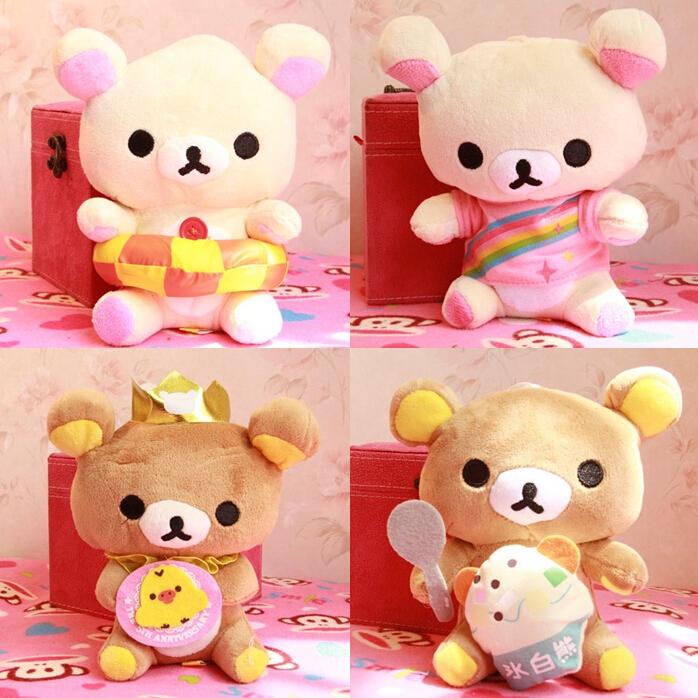 Rilakkuma Biscuit Bear Relaxation Bear Plush Doll Toys Car Pendant(China (Mainland))