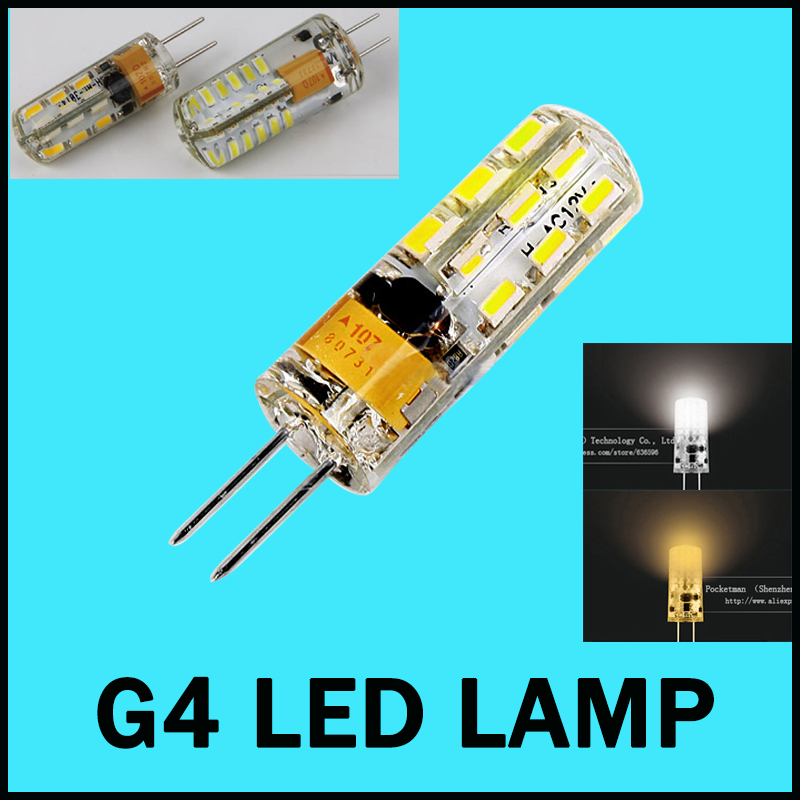 G4 led 3w 6W 24/48 LED X3014 SMD Replace 30W halogen 360 degree Chandelier Lamp Bulb Spotlight Warm Cold White DC 12V(China (Mainland))