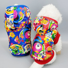 Buy Dog Clothes Fashion Print Hooded Jacket Pet Warm Clothing Yorkshire Chihuahua Teddy Dogs Cat Coat Autumn & Winter Puppy Vest for $5.46 in AliExpress store