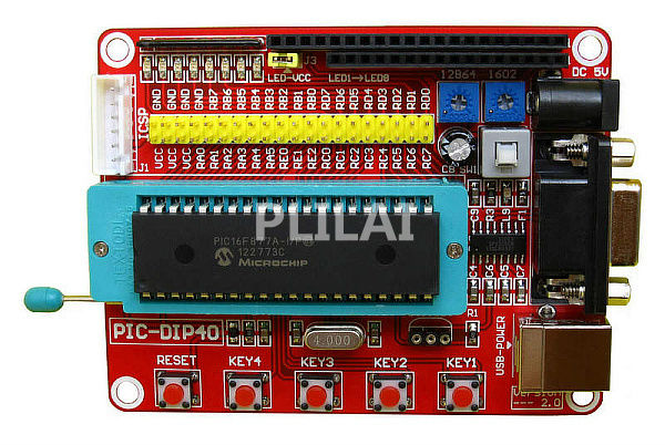 Mini System PIC Development Board + Microchip PIC16F877 PIC16F877A+ USB Cable(China (Mainland))