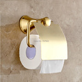Free Shipping Wholesale and Retail Luxury Gold Color Bathroom Roll Paper Holder Wall Mounted Toilet Paper