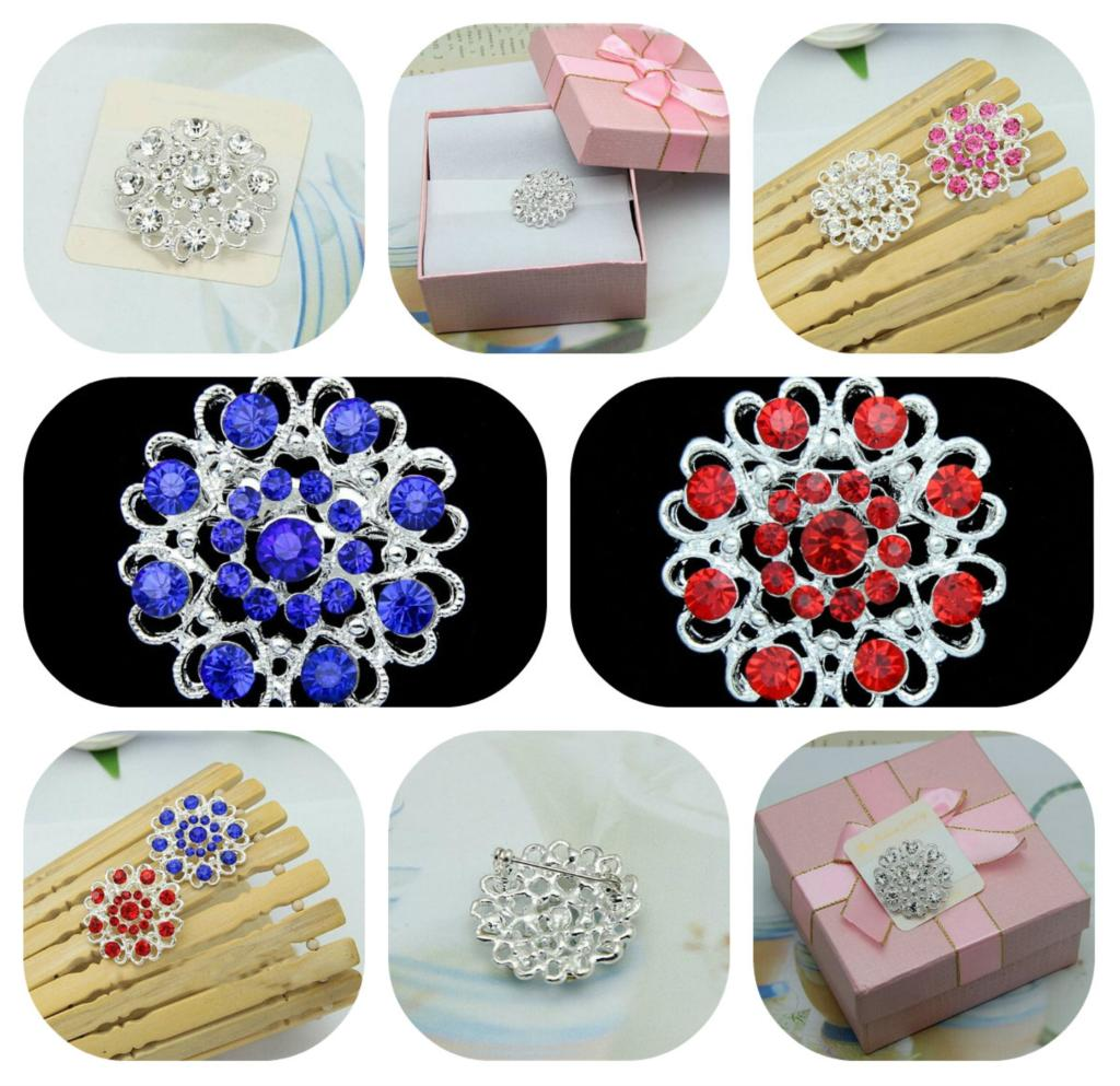 Hot Hollow Cz Diamond Brooch Lovehearts Elegant Fashion Chic New Women Delicate Gift Wedding Rhinestone pins(China (Mainland))