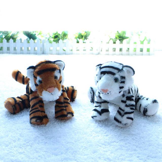 (1 Шт.) 20 СМ Плюшевый Тигр Мягкую Моделирования Животные Спокойно Тигры Peluche Brinquedos для Детей Детей Игрушки День Рождения подарки