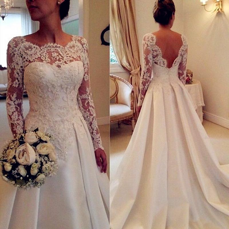 Свадебные платья со шлейфом и рукавами