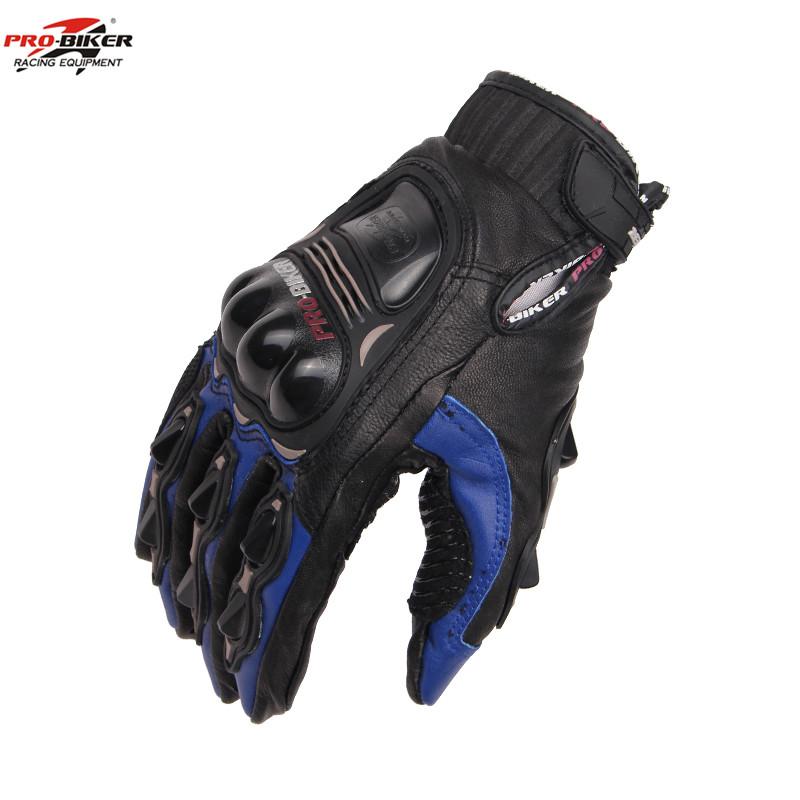 PRO-BIKER Goat Leather Moto Racing Gloves Motocross Road Motorcycle Full Finger Protective Gear MCS-05 - dansy's store