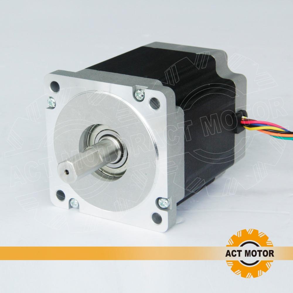 Act 8 lead nema 34 stepper motor 2a 900oz nsk bearings for Nema 34 stepper motor driver
