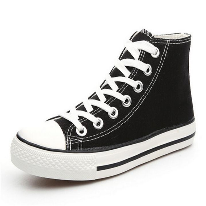 with box! Hot Selling Fashion Classic Leisure High-Top Star Canvas All Shoes women shoes Size EUR 35-44 Black red white blue(China (Mainland))
