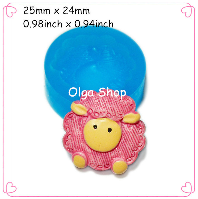 Cake Decorating Push Mold : DYL085 Sheep Flexible Silicone Push Mold 25mm Cupcake ...