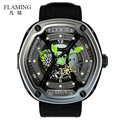 FLAMING Dietrich Series Organic Time OT 1 Green Watches Men Luxury Fashion Wristwatches with Miyota 82S7