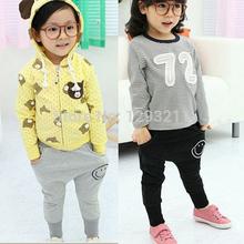 Kids Pants Smile Pattern Casual Harem Pants Baby Cotton Trousers 1 6Y