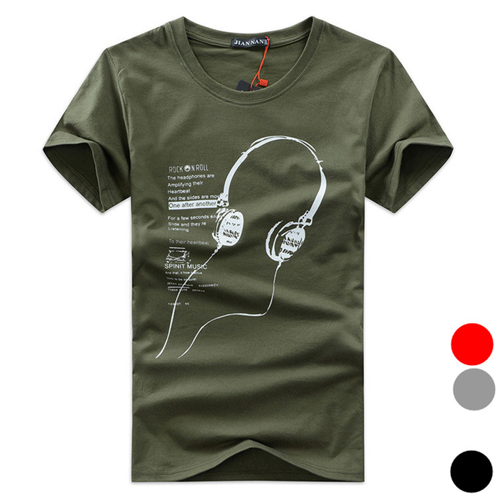 2015 New Men's Headsets Summer style Cotton T-shirt High quality Men Shirt reggae Casual Menswear Factory outlets 5XL D116(China (Mainland))