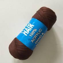 Роскошные для плетения 70 г в пучке бразильские шерстяные волосы огнестойкие синтетические волокна для коробок косички Сенегальские скруче...(China)