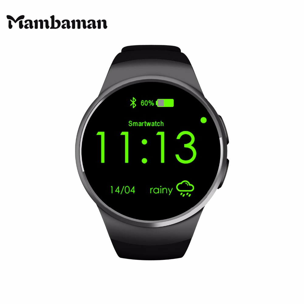 Mambaman KW18 Smart Watch Android Bluetooth Smartwatch alarm clock watches men Heart Rate for Mobile phone iphone Xiaomi VS iwo(China (Mainland))