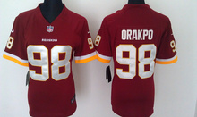 Women ladies all stitched PINK love Washington Redskins #46 Alfred Morris 11 DeSean Jackson 91 Ryan Kerrigan(China (Mainland))