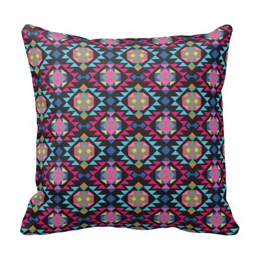 Surprised Tribal Aztec Andes Geometric Hipster Arrow Pattern Throw Pillow Case (Size: 20