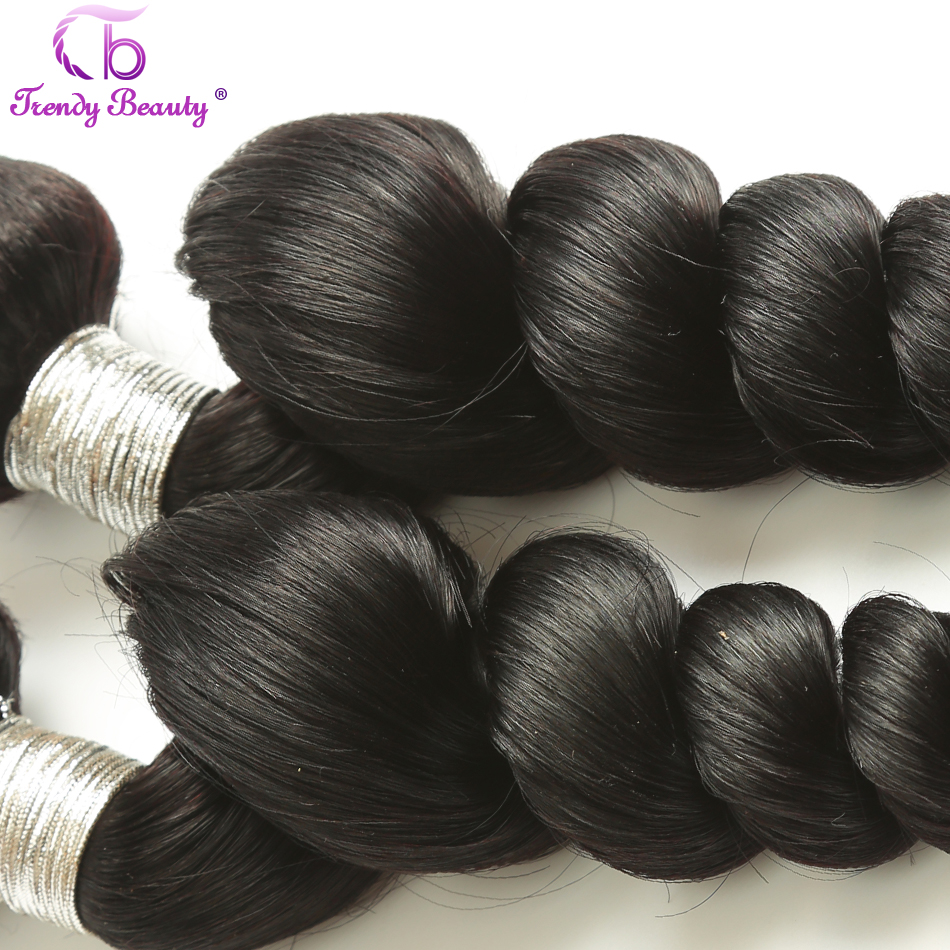 Trendy Beauty Brazilian Loose Wave Virgin Hair 8-26inch Human Hair Weaving Extensions One piece Only Can Be Dyed Free Shipping