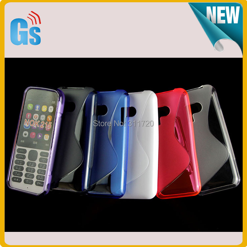 Bulk Buy Free DHL Shipping S Line Soft Gel TPU Back Case For Nokia 215 Cover(China (Mainland))