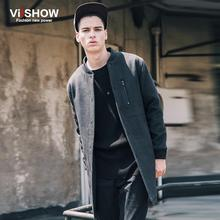 Viishow 2016 Brand Autumn Winter Men Trench Coat Long Fashion Stylish Double-breasted Overcoat Thick Warm Men Trench(China (Mainland))