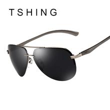 TSHING Aluminum Alloy Pilot Polarized Sunglasses Men Driving Coating Mirror Sun Glasses Driver Outdoor Polaroid - Eyewear Co., Ltd store
