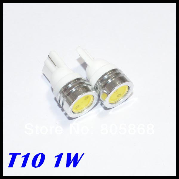 100pcs T10 1w 194 168 Smd High Power Led Car Light Bulbs Clearance Light Parking Light Indicator Reading Lamps White