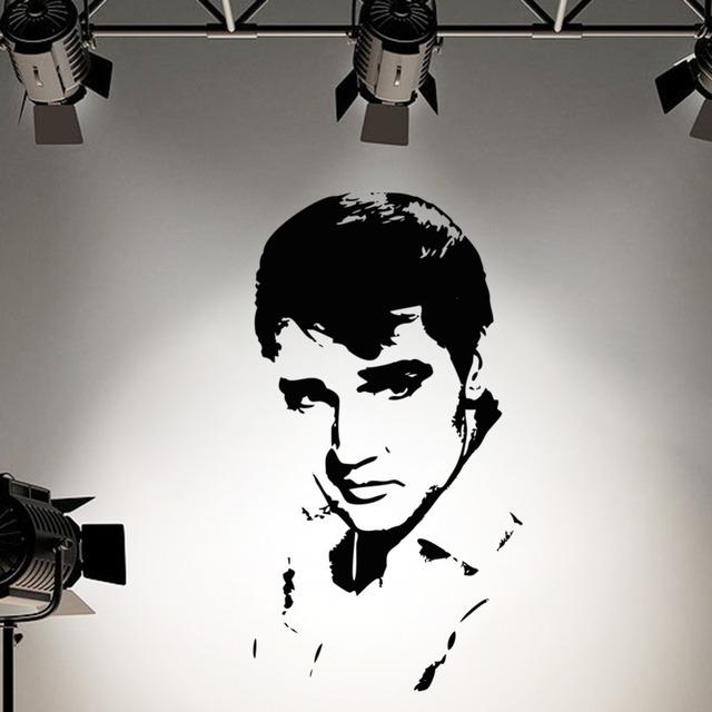 Элвис пресли стена наклейка наклейка для детей номеров - винил наклейка силуэт стена искусство росписи Elvis7